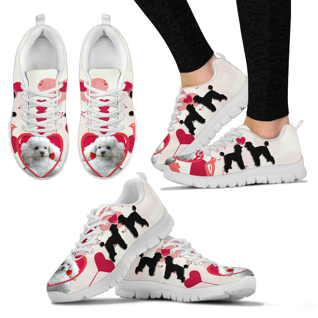 Valentine's Day Special Poodle Dog Print Running Shoes For Women