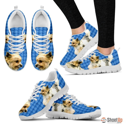 Customized Dog Print (Black/White) Running Shoes For Women Designed By Shanan Roth