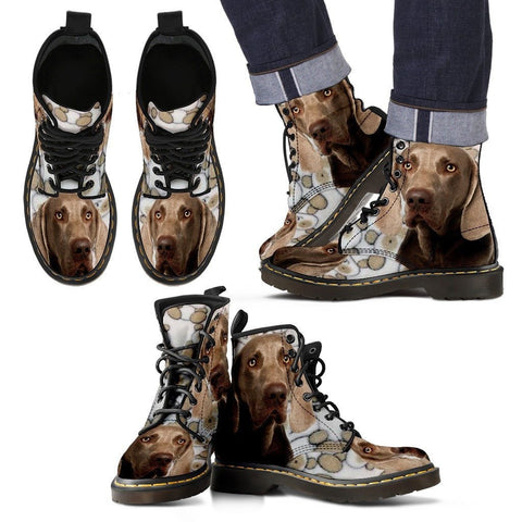 Weimaraner Print Boots For Men Express Shipping