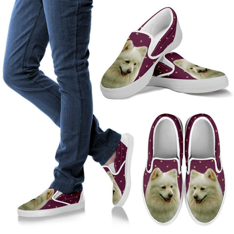 German Spitz Dog Print Slip Ons For WomenExpress Shipping
