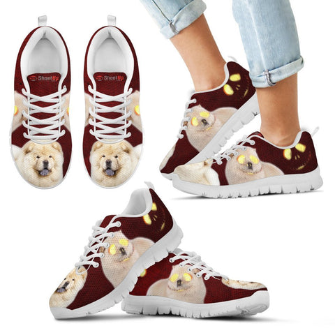 Happy Halloween Chow Chow Dog Print Running Shoes For Kids