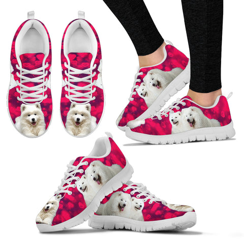 Valentine's Day Special Samoyed Dog Print Running Shoes For Women
