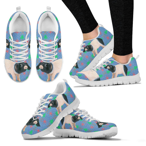 SwabianHall swine Pig Print Christmas Running Shoes For Women