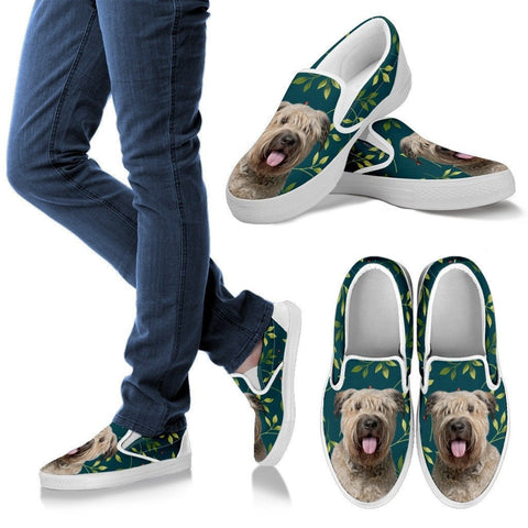 Bouvier des Flandres Dog Print Slip Ons For WomenExpress Shipping
