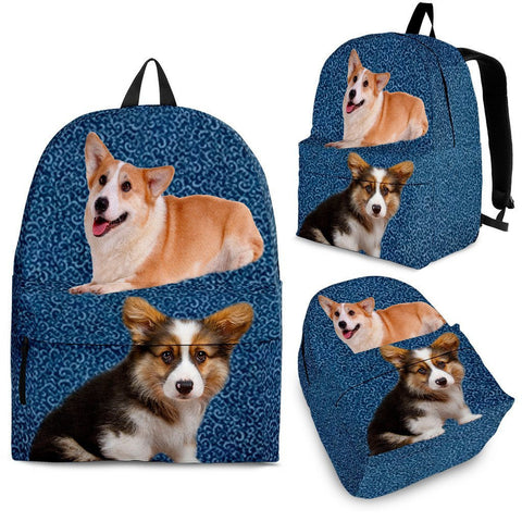 Pembroke Welsh Corgi Print BackpackExpress Shipping