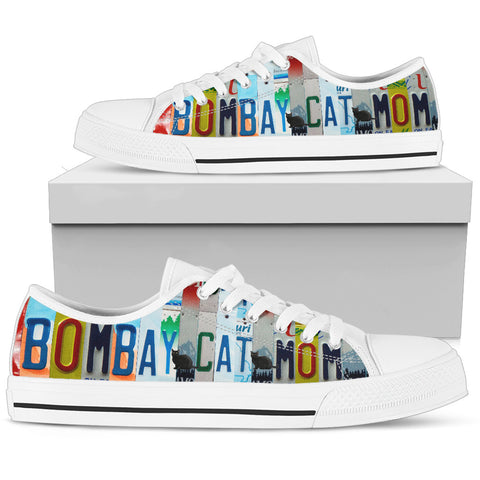 Bombay Cat Print Low Top Canvas Shoes for Women