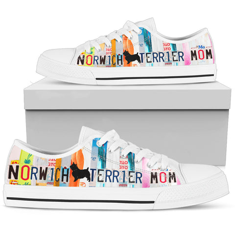 Norwich Terrier Mom Print Low Top Canvas Shoes for Women
