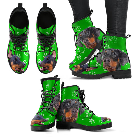 DOBERMAN PINSCHER DOG PRINT BOOTS FOR WOMEN-LIMITED EDITION