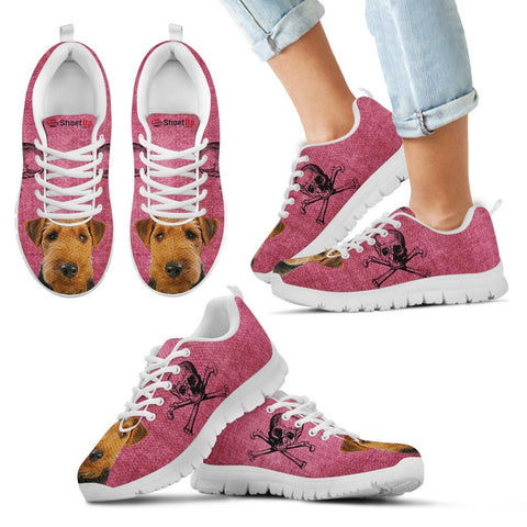 Welsh Terrier Halloween Print Running Shoes For Kids/Women
