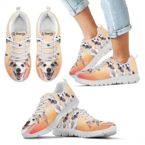 Laughing Whippet Print Running Shoes For Kids