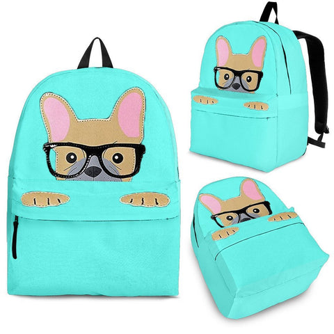 French Bulldog Print BackPack Express Shipping