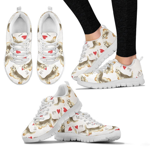 Dandie Dinmont Terrier Pattern Print Sneakers For Women Express Shipping