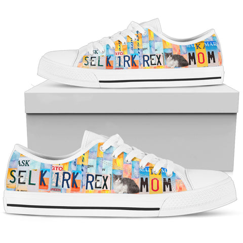 Selkirk Rex Mom Print Low Top Canvas Shoes For Women
