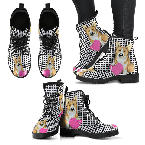 Valentine's Day SpecialPembroke Welsh Corgi Print Boots For Women