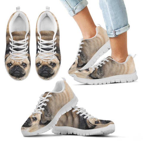 Pug Dog Running Shoes For Kids3D Print