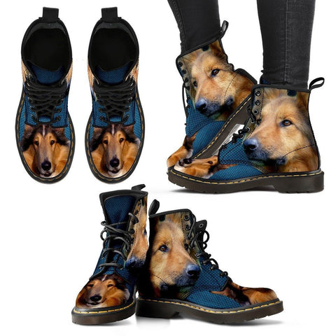 Rough Collie Print Boots For WomenExpress Shipping