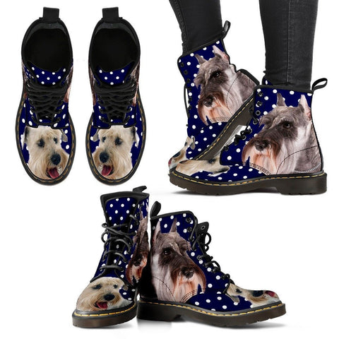 Miniature Schnauzer Print Boots for WomenExpress Shipping
