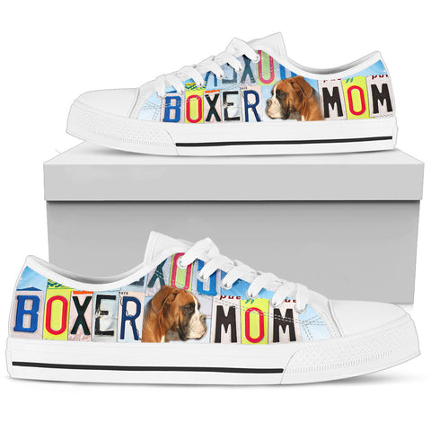 Boxer Mom Print Low Top Canvas Shoes for Women