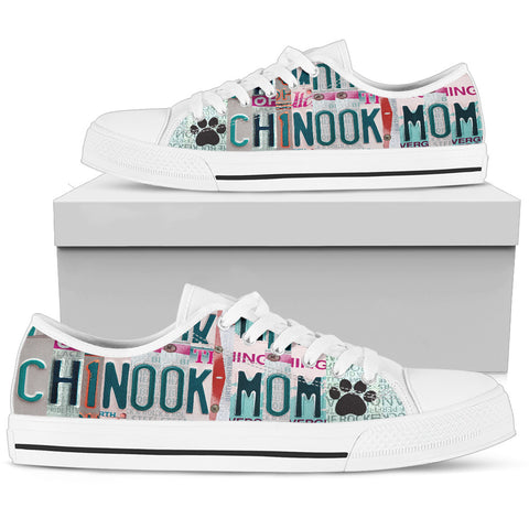 Lovely Chinook Mom Print Low Top Canvas Shoes For Women
