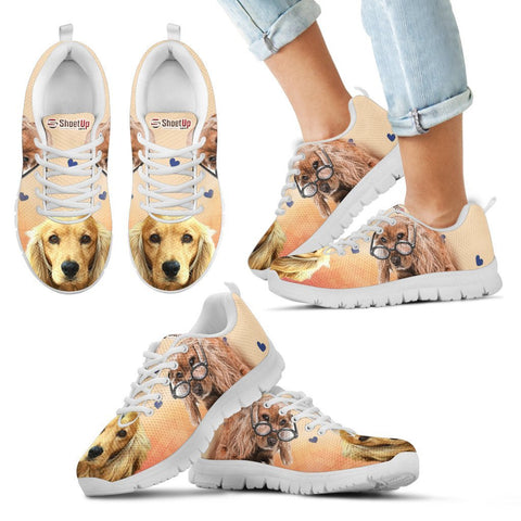 Cute Cocker Spaniel Print Running Shoes For Kids