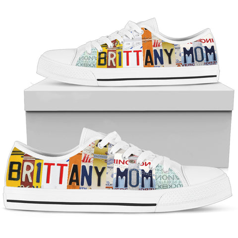 Amazing Brittany Mom Print Low Top Canvas Shoes For Women