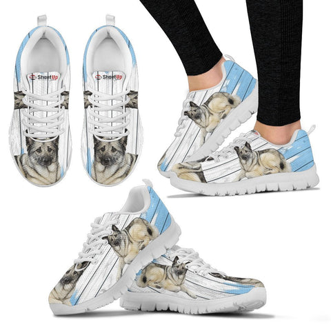Norwegian Elkhound Dog Print Running Shoes For Women