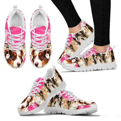 Australian Shepherd Print Sneakers For Women
