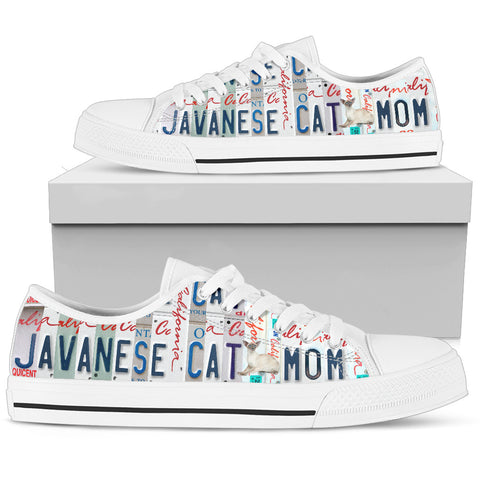 Javanese Cat Print Low Top Canvas Shoes for Women