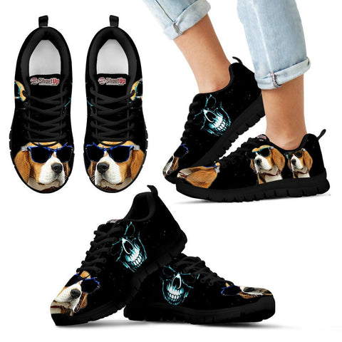 Beagle Halloween Themed Print Running Shoes For Kids And Women