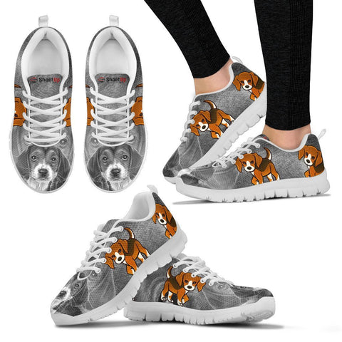 Cute&Cool Beagle Dog Print Running Shoes For Women