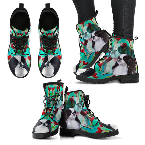 Valentine's Day SpecialJapanese Chin Dog Print Boots For Women