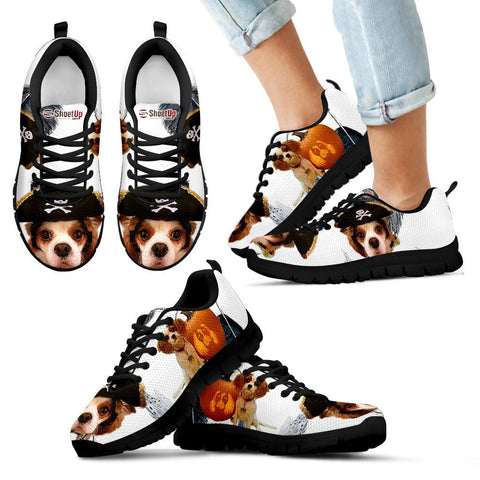 Cavalier King Charles Spaniel Halloween Black Print Running Shoes For