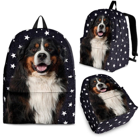 Bernese Mountain Dog Print BackpackExpress Shipping