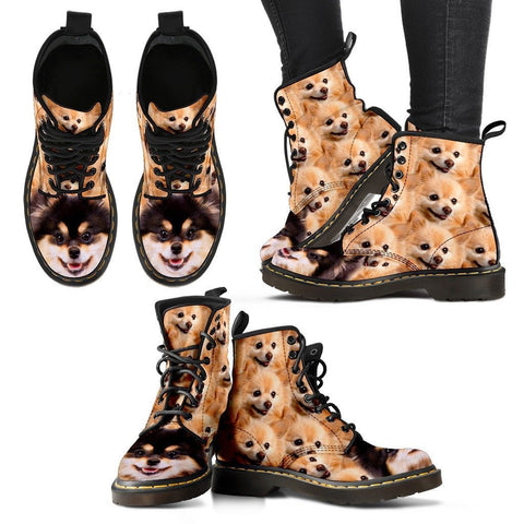Pomeranian Print Boots For WomenExpress Shipping
