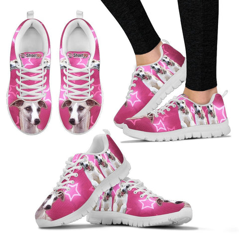 Whippet On Pink Print Running Shoes For Women