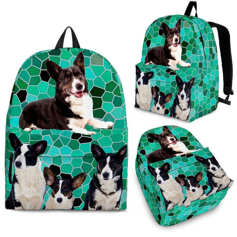 Cardigan Welsh Corgi Dog Print Backpack Express Shipping