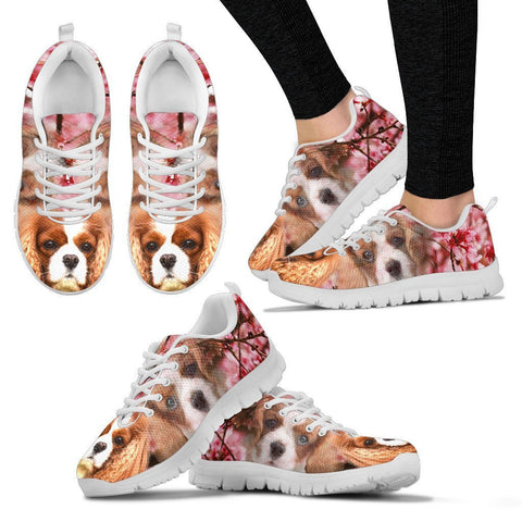Cavalier King Charles Spaniel Print Sneakers For Women