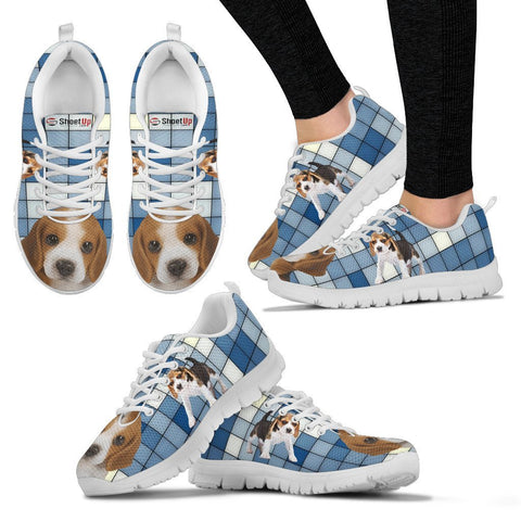 Beagle With 3D Blocks Print Running Shoes For Women