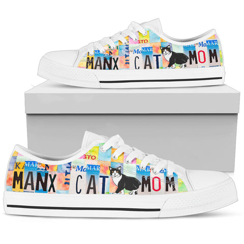 Women's Low Top Canvas Shoes For Manx Cat Mom