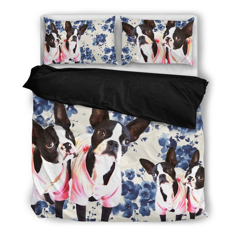 Double Boston Terrier Bedding Set