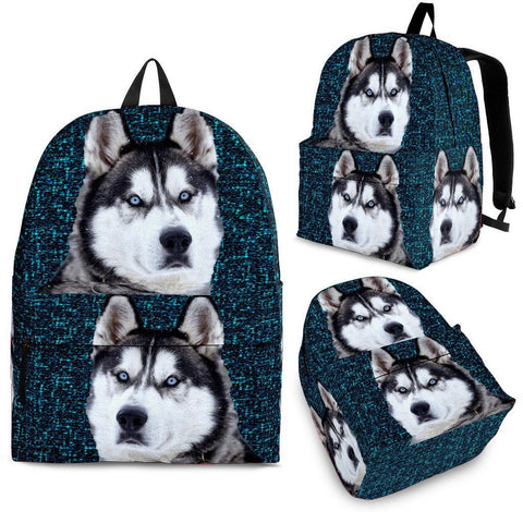 Siberian Husky Dog Print BackpackExpress Shipping