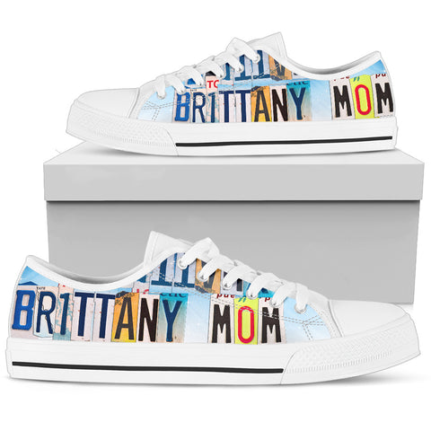 Cute Brittany Mom Print Low Top Canvas Shoes For Women