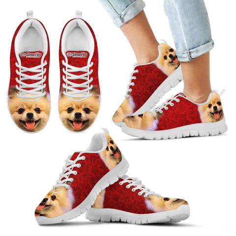 Cute Pomeranian Print Running Shoes For Kids