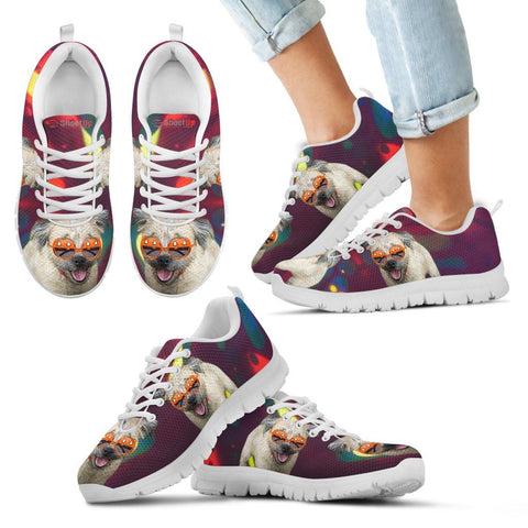 Halloween Border Terrier Print Running Shoes For Kids