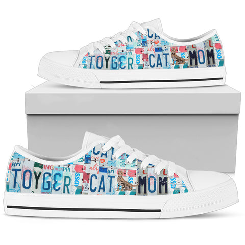 Toyger Cat Print Low Top Canvas Shoes For Women