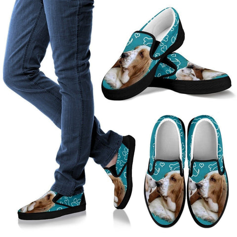Lemon Basset HoundDog Slip Ons Shoes For Women