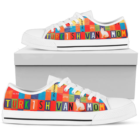 Turkish Van Mom Print Low Top Canvas Shoes For Women