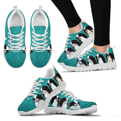 Cute Japanese Chin Print Running Shoes For Women