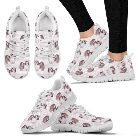 Lhasa Apso Pattern Print Sneakers For Women Express Shipping