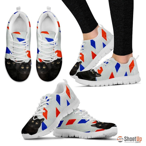 Bombay Cat Print Running Shoes For Women